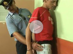 FLASH !!! Cute boy taken into custody by an older gay cop