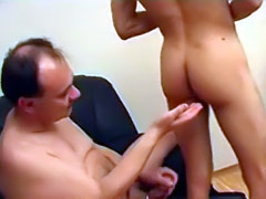 The thing twink likes most is a hard dick drilling his ass so his mature lover added some lub on his dick and made him the happiest man ever