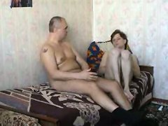 Horny twink wakes up his older lover with a good nasty blowjob