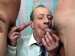 Experienced male doing passionate blowjob