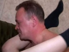 Tight young ass gets drilled deep and hard by a thick old cock