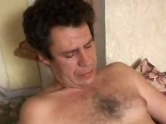 Nasty threesome with two old guys fucking a hot young twink
