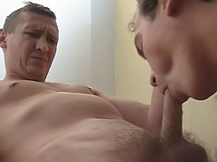Nasty guys rubbing their hard dicks