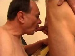 Hot twink and his older lover enjoy sucking each other's cock