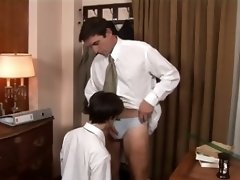An ass-slapping lesson for the boy