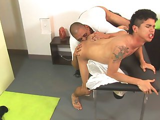 He came in for a full body massage, but what he got in the end was something hotter, crazier than that. Check out the boy melt in the skilled hands of