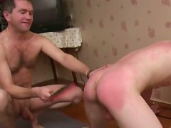 Gay\'s round ass drive horny man fucking crazy and he wants to spank him badly.