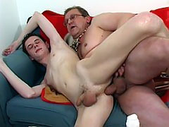 Perverted tutor loves young assholes