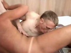 Horny old fucker enjoys sinking his big dick into twink ass